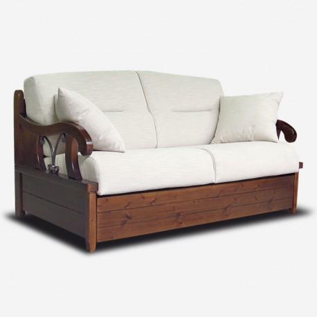 Vendita divano letto in legno e ferro battuto eden - Divani country ikea ...