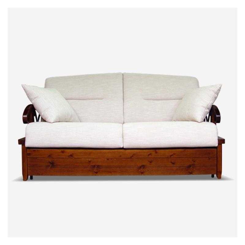 vendita divano letto in legno e ferro battuto eden