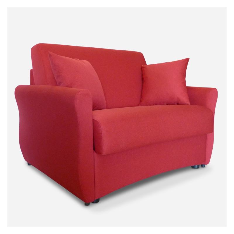Poltrona letto elegante 1 posto singolo modello alice for Poltrona letto